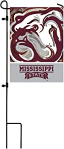 Team Sports America NCAA Mississippi State University Suede Garden Flags