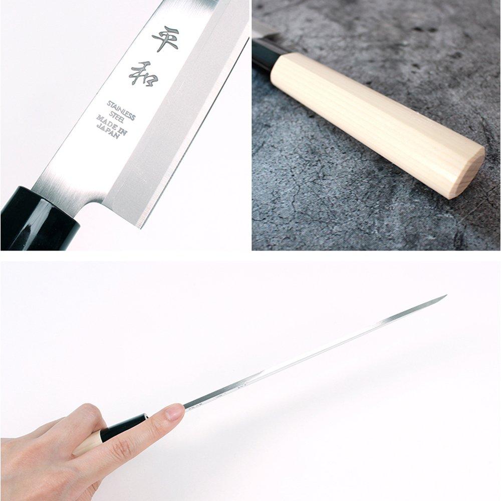 KS&E Hasegawa Stainless Steel Right Handed Japanese Knife, Filet Knife Fish, Asian, Yanagi Sushi Sashimi Knife (8.5-inch(210mm) Right Handed Yanagi) by Peace (Image #2)