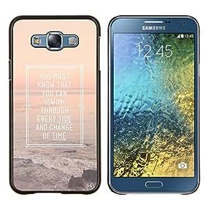LECELL--Funda protectora / Cubierta / Piel For Samsung Galaxy E7 E700 -- Cartel Inspiring Summer Sunset Mar Océano --