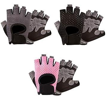 Guantes deportivos Guantes de levantamiento de pesas con ventilación, protección completa para la palma y