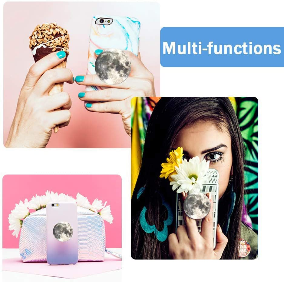 Expanding Stand and Grip for Smartphones and Tablets Multi-Function Mounts and Stands Kit Car Mount iPhone Holder Collapsible Heart Confetti