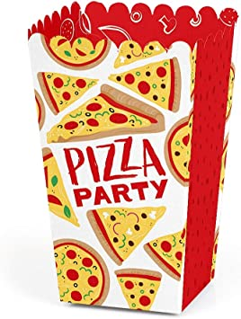 Big Dot of Happiness Pizza Party Time – Cajas para Dulces de ...