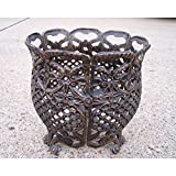 Oakland Living 12 Inch Round Flower Pot - Cast Aluminum, Bronze - 5003-AB supplier_id_shop_freely ,ket60131189903635