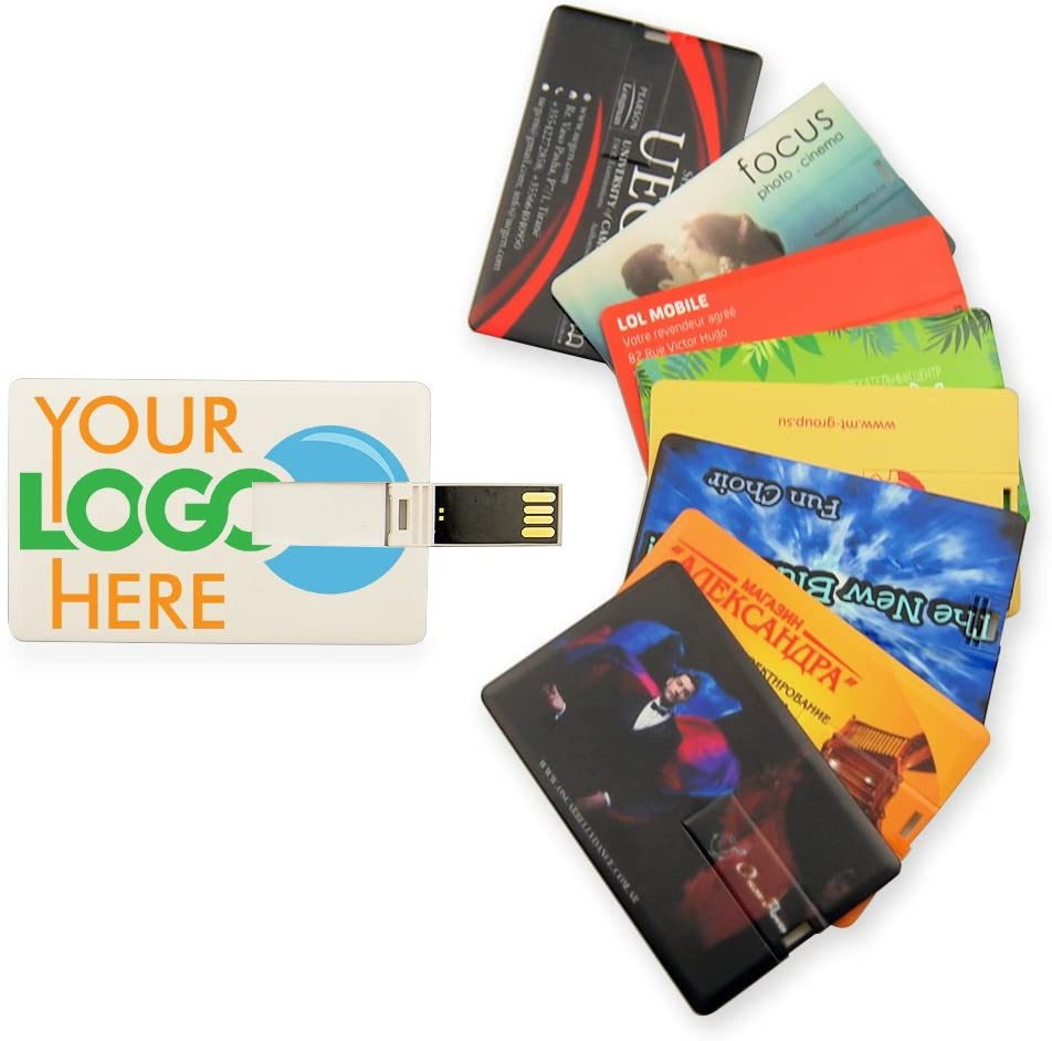 Custom Logo Texts Credit Card USB Flash Drive Bulk Pack 4GB X 50PCS