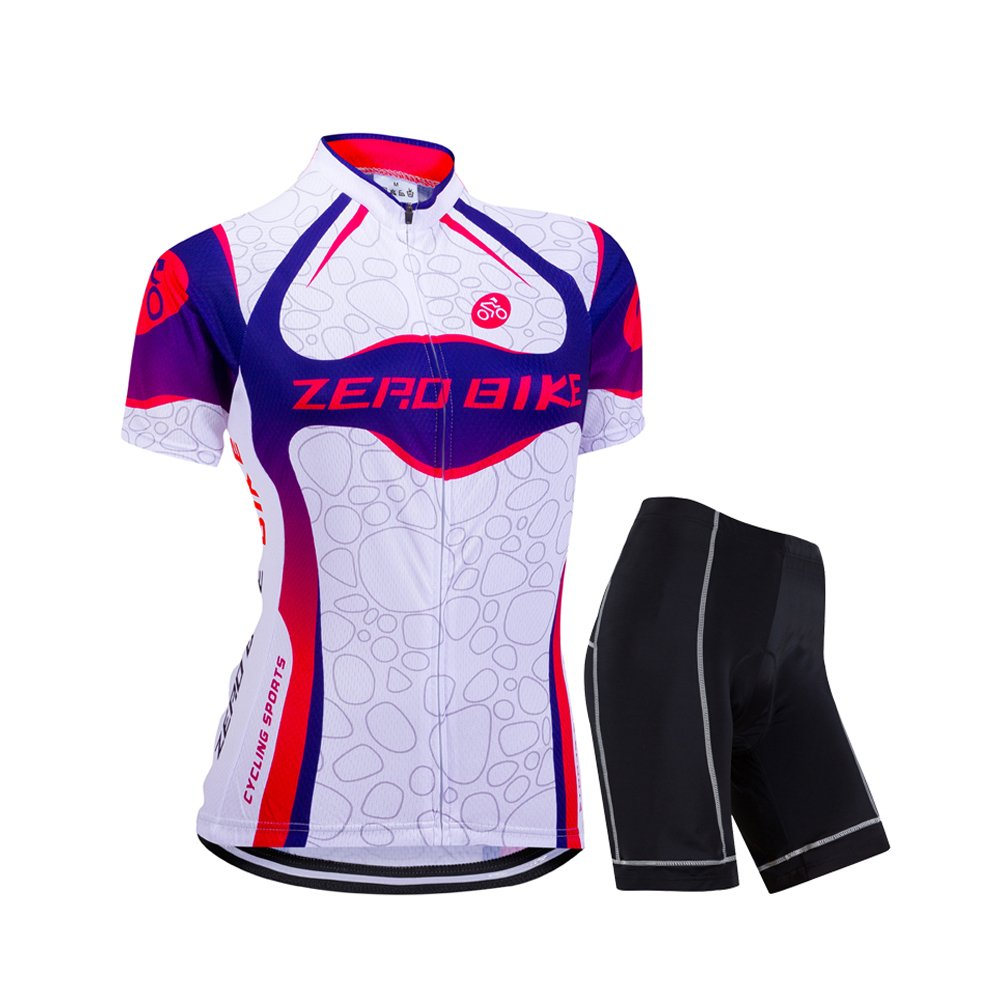 ZEROBIKE Women's Short Sleeve Cycling Jersey Jacket Cycling Shirt Quick Dry Breathable Mountain Clothing Bike Top by ZEROBIKE