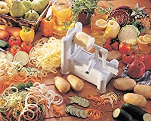 Generic YanHong-US3-160128-77 8yh2973yh to French Fry Vegetable Spiral Maker icer Curly Cutter Slicer Curly Durable P Cutter Slicer Curly Spiral Ma Potato French Fry tic Veget Potato French Fry
