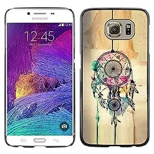 Be Good Phone Accessory // Dura Cáscara cubierta Protectora Caso Carcasa Funda de Protección para Samsung Galaxy S6 SM-G920 // Catcher Art Hipster Indian