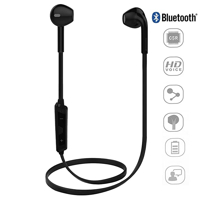 ipeli Wireless Bluetooth 4.1 auriculares, auriculares para uso diario, con micrófono llamadas manos libres