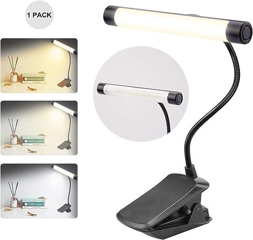 Ordinateur portable Mode de luminosit/é niveau 3 prot/ège les yeux HONWELL Batterie Lampe de lecture /à LED Lampe de lecture avec clip Lecteur de nuit Kindle Lampe rechargeable