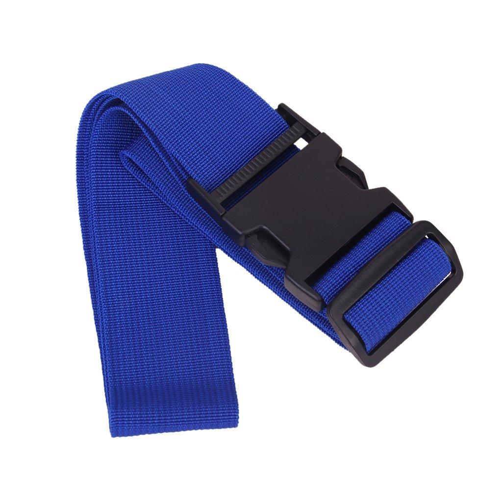 Long Luggage Packing Belt Suitcase Strap Safety Strap (Dark Blue)
