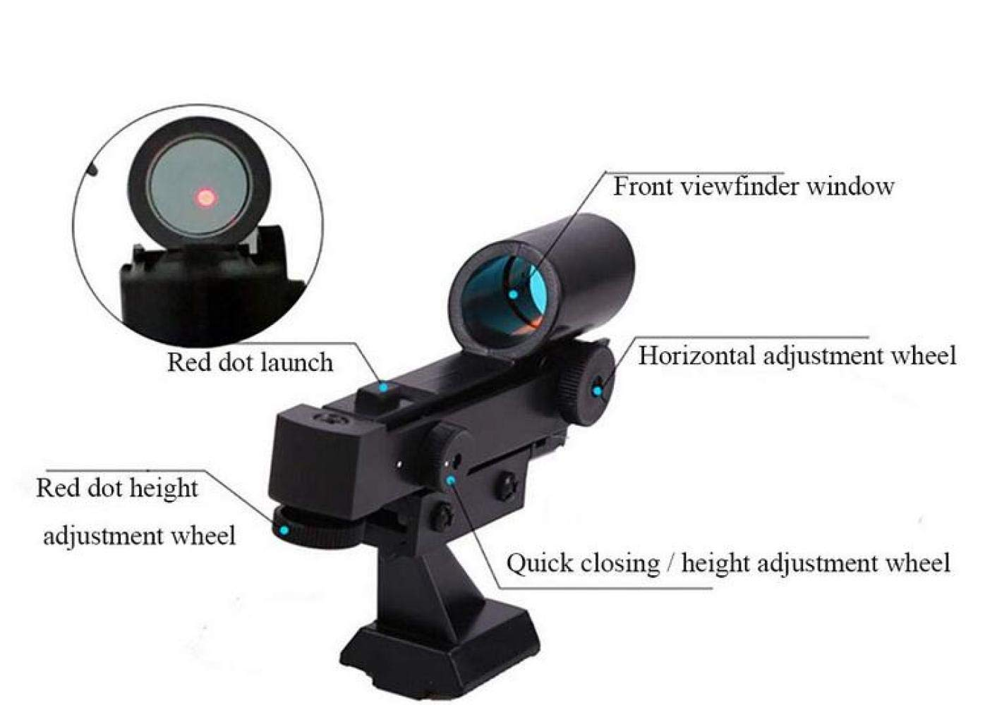 CTO Telescope Astronomical Professional Deep Space High-Definition Night Vision Stargazing 80Eq Student Child Adult,A,Telescope by CTO (Image #2)