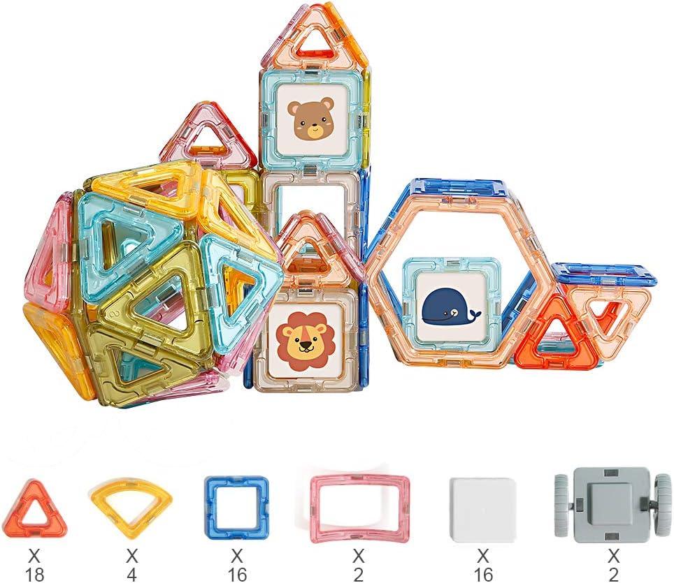 Richgv Bloques de Construcción Magnéticos para Niños,Juguete Magnético de Construcción , 58 Piezas Bloques Magnéticos 3D Juguetes Creativos y Educativos,Juguetes Bebes 1 Año (58 Piezas): Amazon.es: Juguetes y juegos