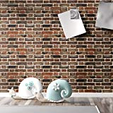 Peel and Stick Wallpaper by fancy-fix Self Adhesive Contact Paper for Room Decor-17.7in118in, Brick