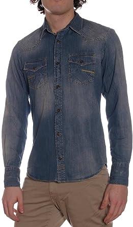 MeltinPot - Camisa Jeans Carey D1527-UD320 para Hombre, Ajuste Regular, Manga Larga: Amazon.es: Ropa y accesorios