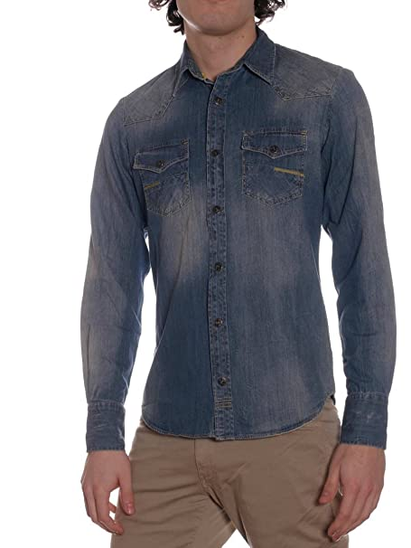 Meltin'pot Jeans Carey Ud320 Ajuste Para Hombre D1527 Camisa r5EWcqSr