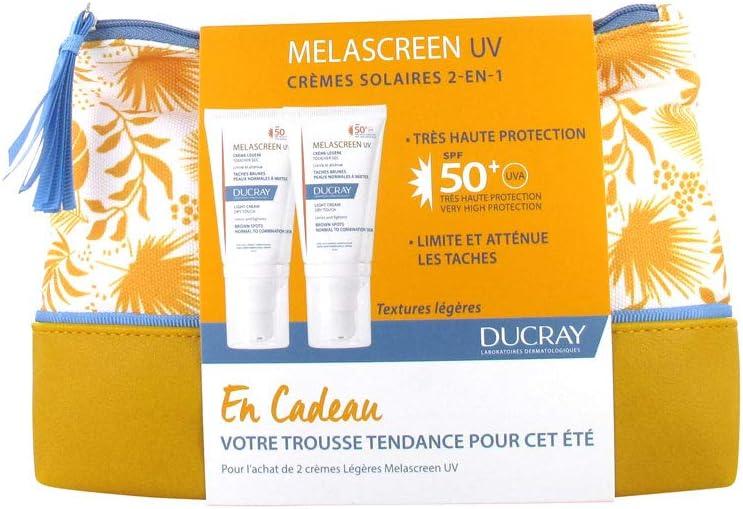 Crema de luz UV Ducray de melascreen FPS 50+ 2 x 40 ml + estuche gratis: Amazon.es: Belleza