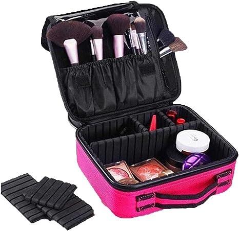 0 ℃ Outdoor Maletín para Maquillaje, Estuche Organizador de Cosméticos Brochas, Ligero y Pequeño Conveniente de Llevar,Pink: Amazon.es: Deportes y aire libre