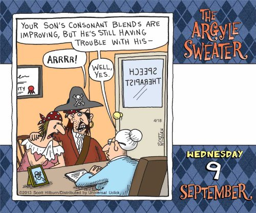 Free Comic Book Day Dubai: The Argyle Sweater 2015 Day-to-Day Calendar
