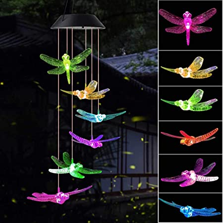 Yard Decor Garden Decor Black Color Butterfly Wind Chimes Butterfly Gifts Solar Wind Chimes Garden Gifts Gifts for mom