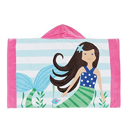 Tiaobug Unisex niños toalla de baño con capucha Cartoon toalla Animal Cape tapa algodón playa toalla