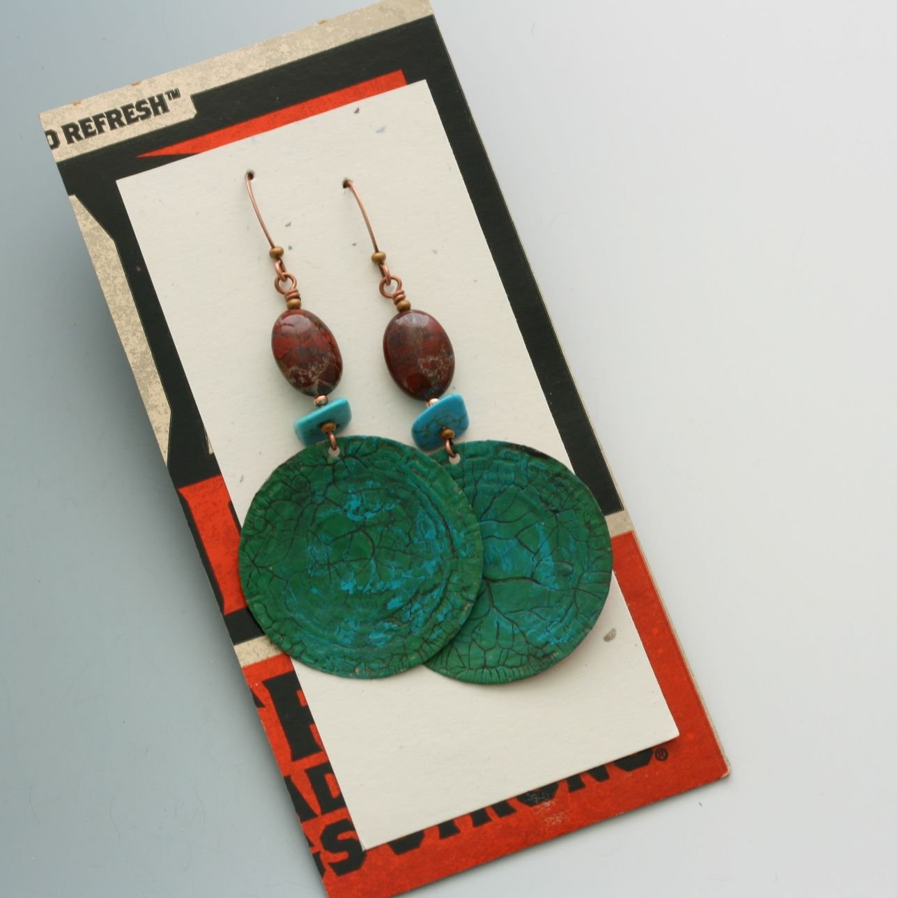 Amazon.com: Bottle cap earrings. Cockn Bull. OOAK.: Handmade