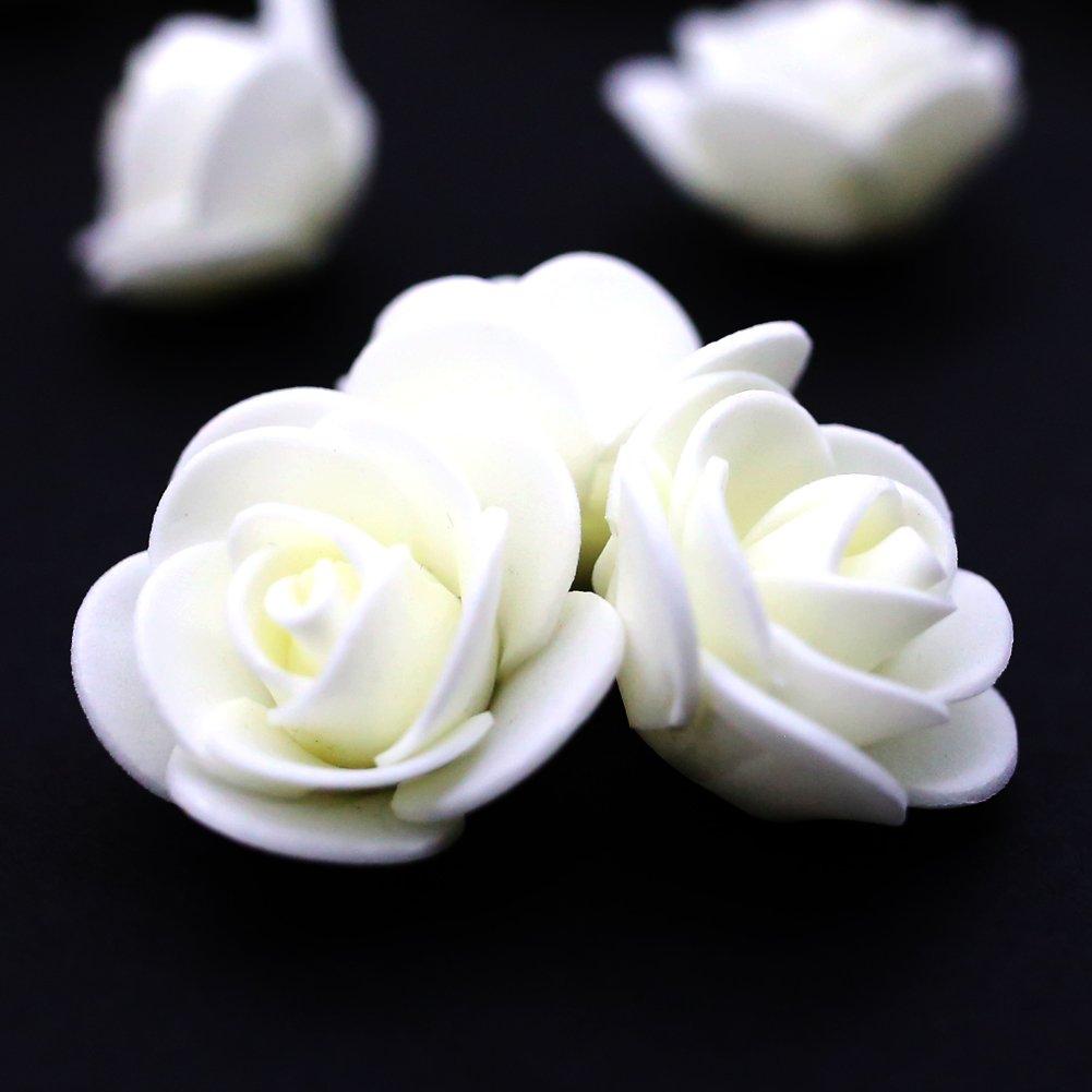 Amazon Fake Flower Heads Mini Artificial Foam Rose Flower Head
