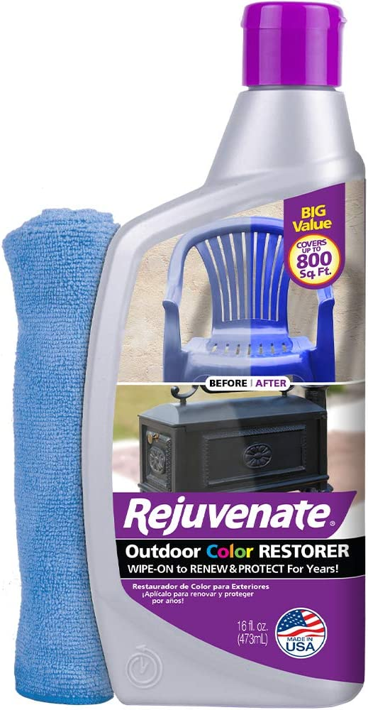 Rejuvenate Outdoor Color Restorer Instantly Restores Faded Sun-Damaged and Oxidized Possessions and Protects from Future Wear 16oz (16oz with Mitt)