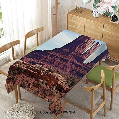 Homenon Tablecloth for Dining Room for Rectangle Tables,Famous