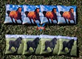 Victory Tailgate Custom Horses Cornhole Bag Set (corn Filled)