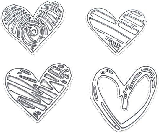 JUANLIAN 3D Die Cuts,Hearts Cutting Die Embossing Stencil Template Mold for DIY Scrapbooking Card Making