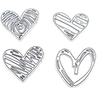 Tajie Acero Al Carbono Love Heart Cutting Die Relieve Plantillas De Stencil Moldes De Papel DIY