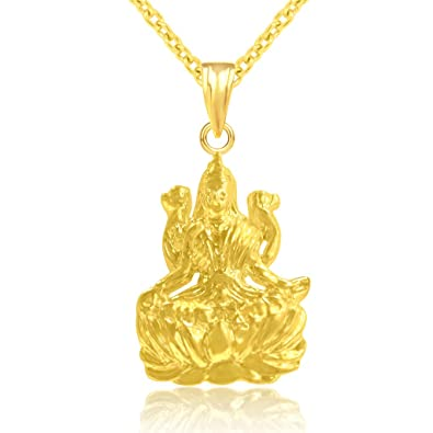 9e5cf30dd1b53 Buy JEWELSCART LAXMI MAA CZ Gold Plated GOD Pendant with Chain ...