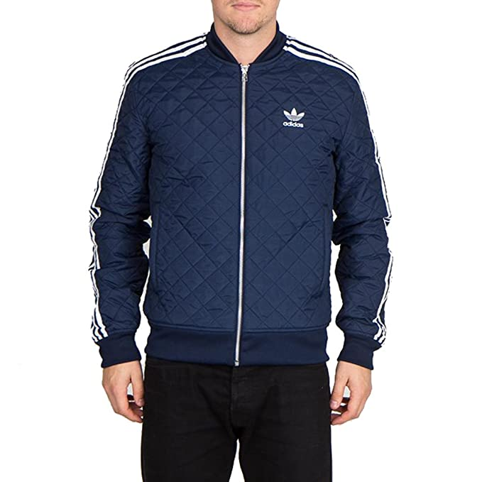 Adidas Quilted Superstar Track Top Collegiate Navy AB7860