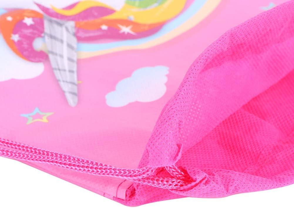 Impression 3D Sac /à Dos /à Cordon avec Licorne pour Fille Sacs de Cadeau de f/ête de Licorne pour Les Enfants