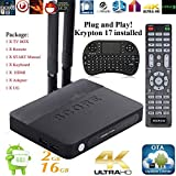 Streaming Media Players Best Deals - Kukele 2017 Plug-N-Play Ready Krypton 17 Fully Loaded Octa Core S912 - CSA91 PRO Android 6.0 Streaming Media Player [Dual WIFI/Antenna/2G+16G] - Wireless Keyboard/Instruction/Unlocked Watch ANYTHING