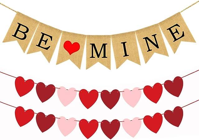 Neutral Heart Grey Heart Garland Heart Banner Valentines Farmhouse Crochet Heart Valentines Garland Heart Bunting Crochet Banner