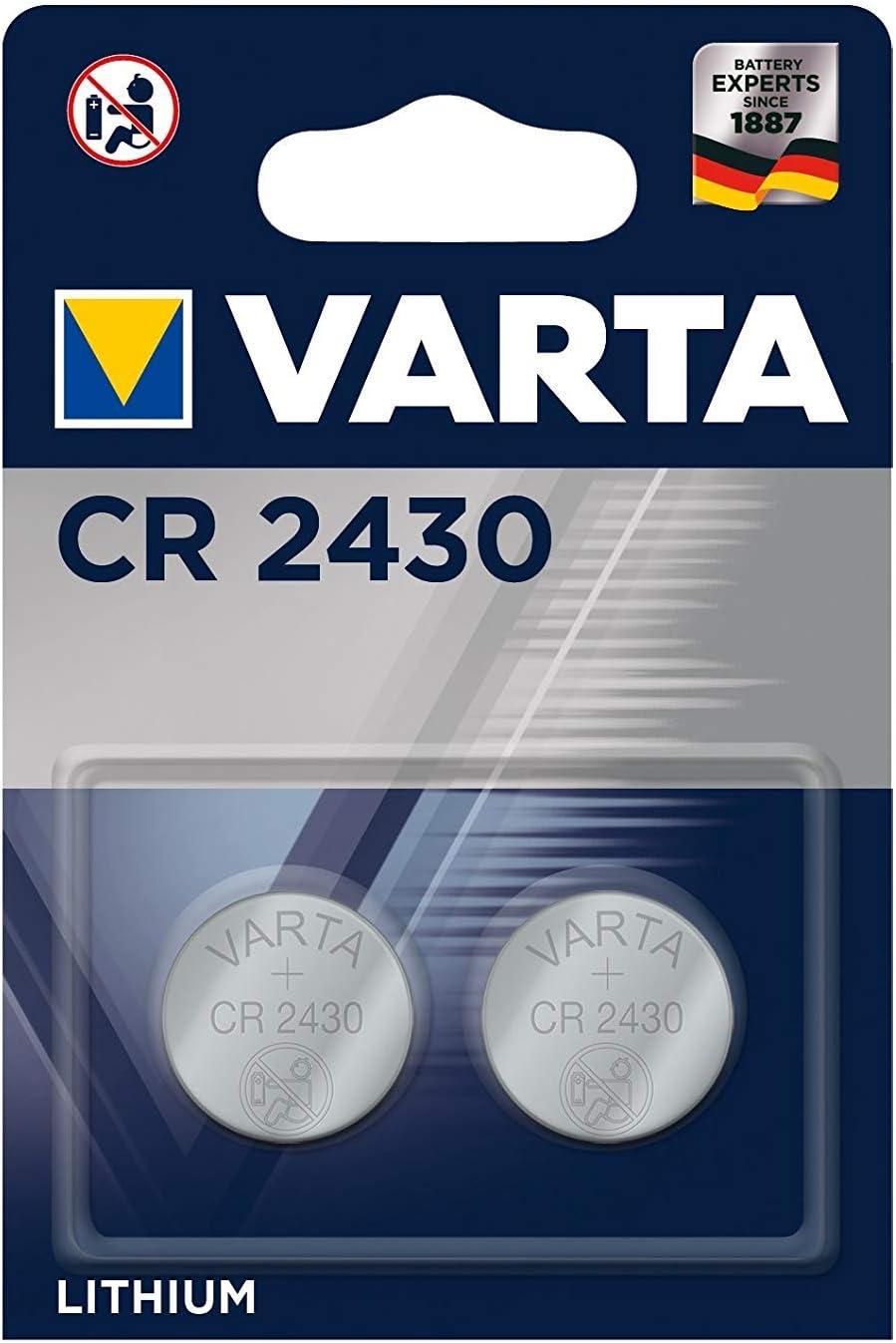 Varta 2965 Knopfzelle Lithium (2er Pack, 6430 CR 2430)Varta
