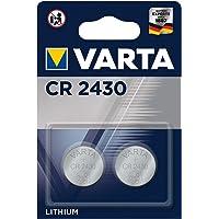 Varta batterijen Electronics CR2430 Lithium knoopcel in originele blisterverpakking, Zilver, 2 stuks