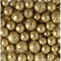 Darice Floral Foam Glitter Berries Vase & Candle Filler Gold