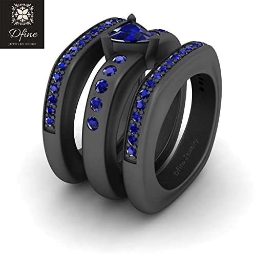 Amazon Com 1 50ct Blue Sapphire Rounded Square Squircle Wedding