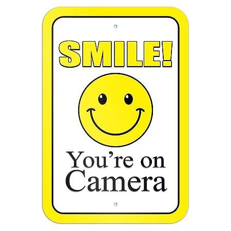 Bilingo Cartel de Metal con Texto en inglés Smile YouRe On ...