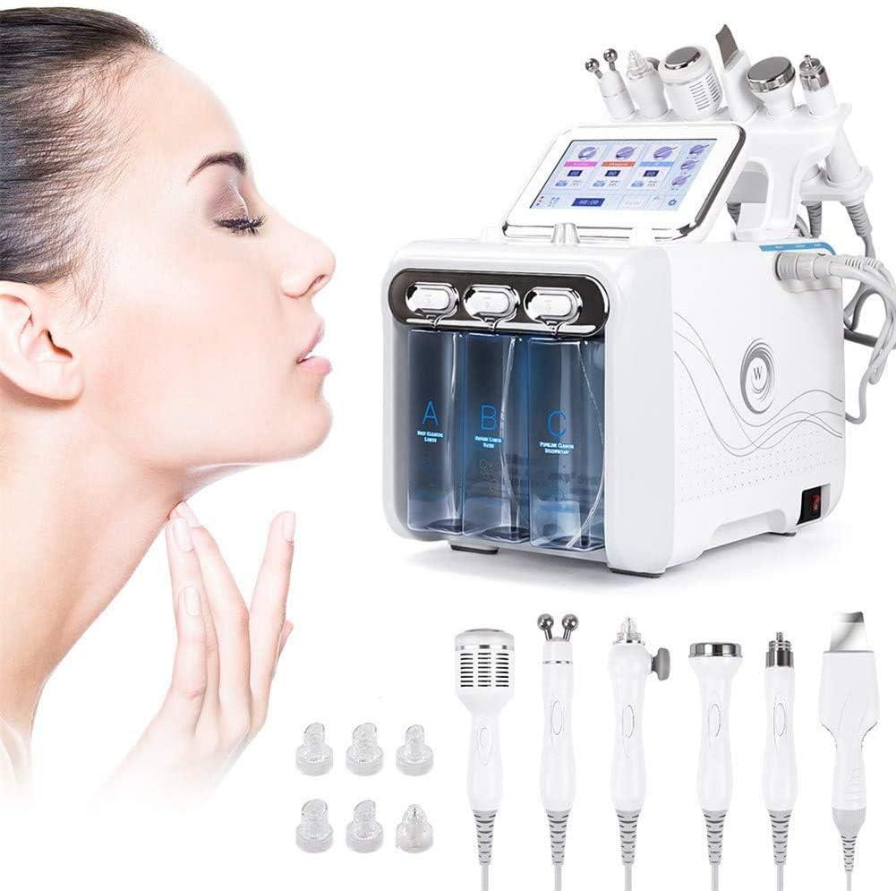 ZLSN Máquina hidráulica 6 en 1 para el Cuidado de la Piel Profunda, Limpieza Exfoliante, hidrodermoabrasión, máquina Exfoliante con Chorro de oxígeno y Agua