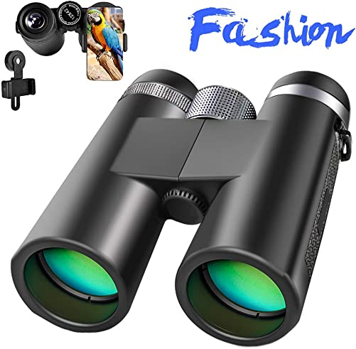 High Power Binoculars, 12×42 Binocular for Adults with BAK4 Prism, FMC Lens, Fogproof Waterproof Low Light Night Vision, Compact Binoculars for Birds Watching Hunting Concerts