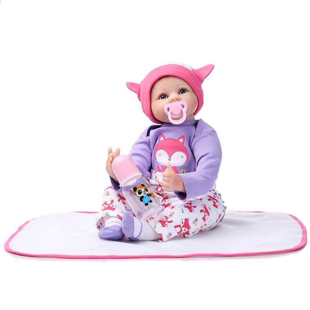 キュートRebornベビー人形ビニール新生児ソフトSilicone Lifelike人形おもちゃにキッズ用ガールズPlaymate by NPK   B07BHP9FFT
