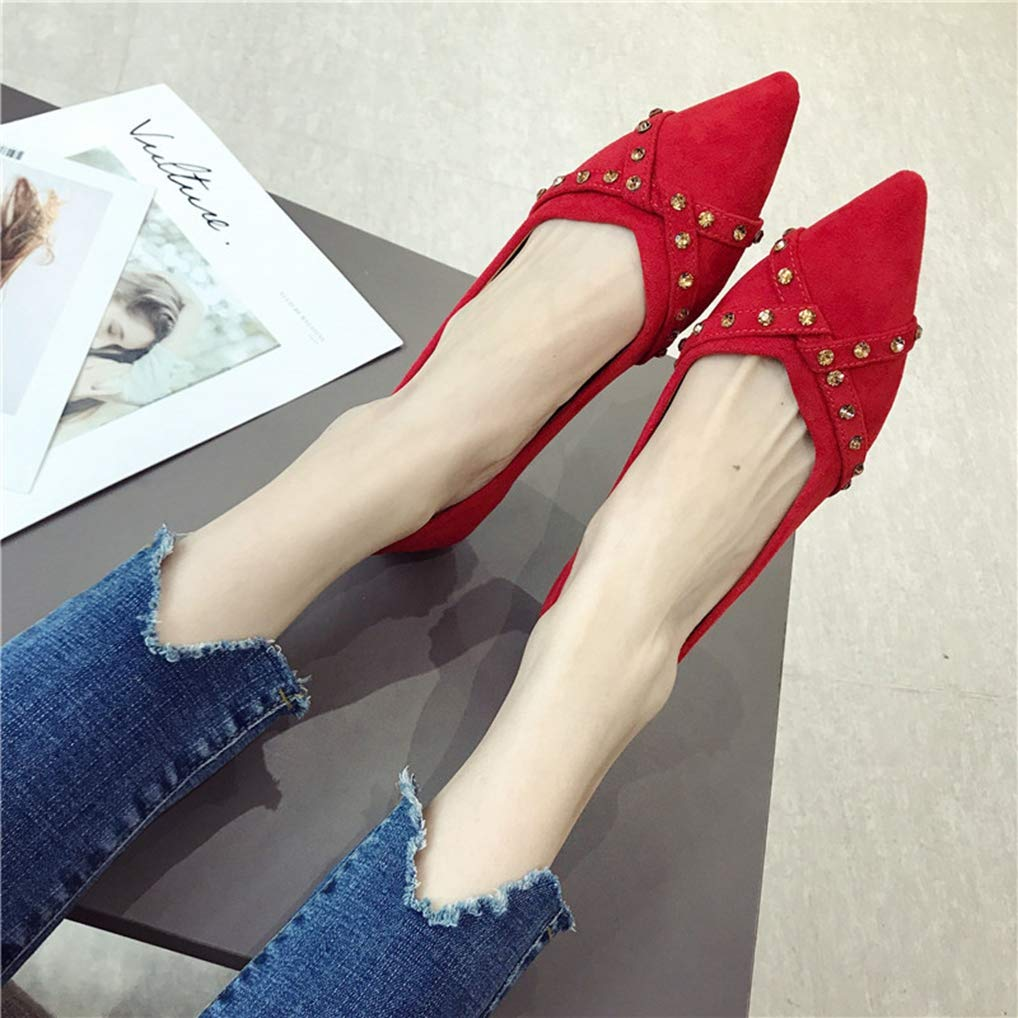 August Jim Womens Flat Shoes Pointed Toe Slip On Ballet Flats Casual Driving Walking Shoes
