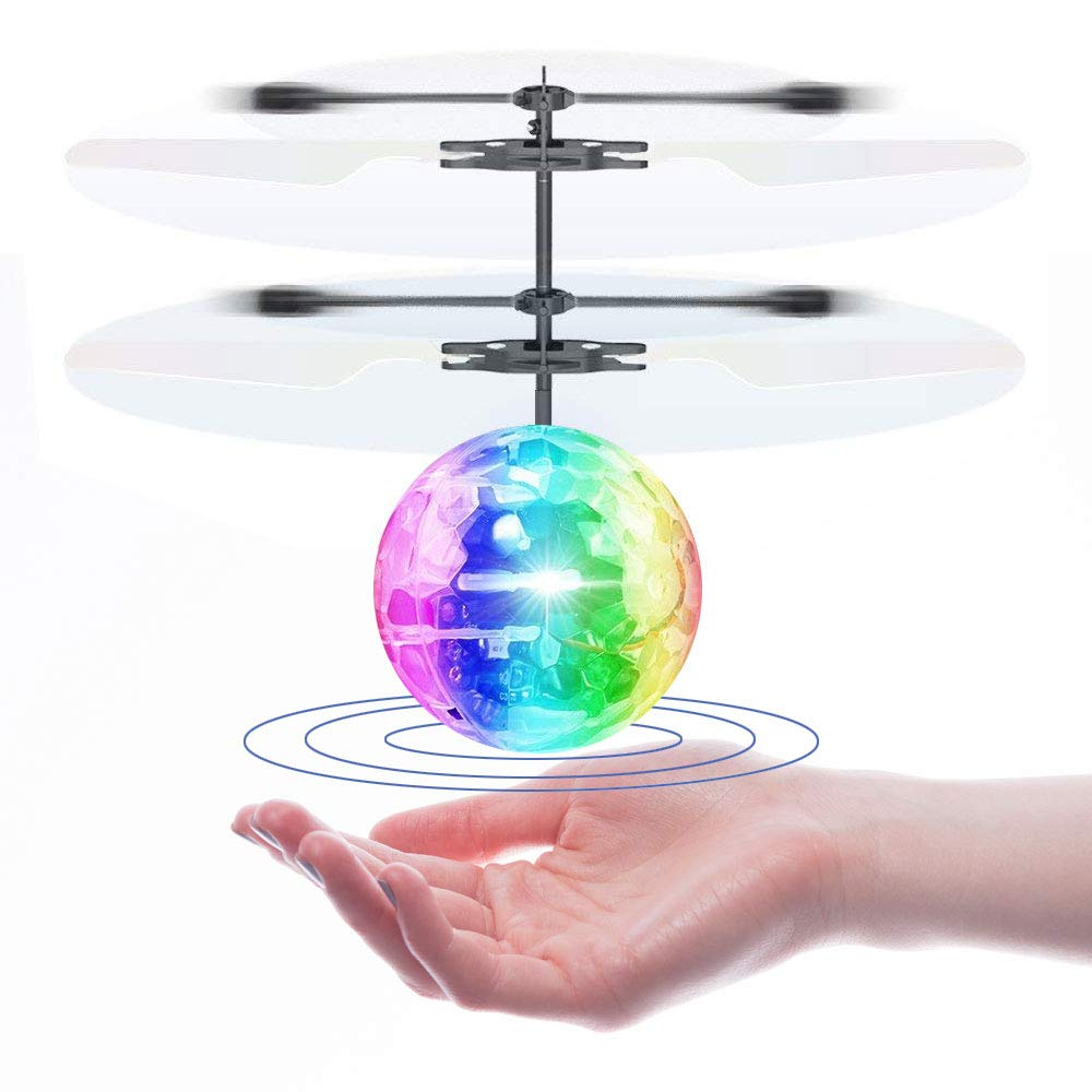 Flying Ball Toy, Heliball RC Toys for Kids Boys Girls with Rechargeable Battery Induction Helicopter for Indoor and Outdoor Games