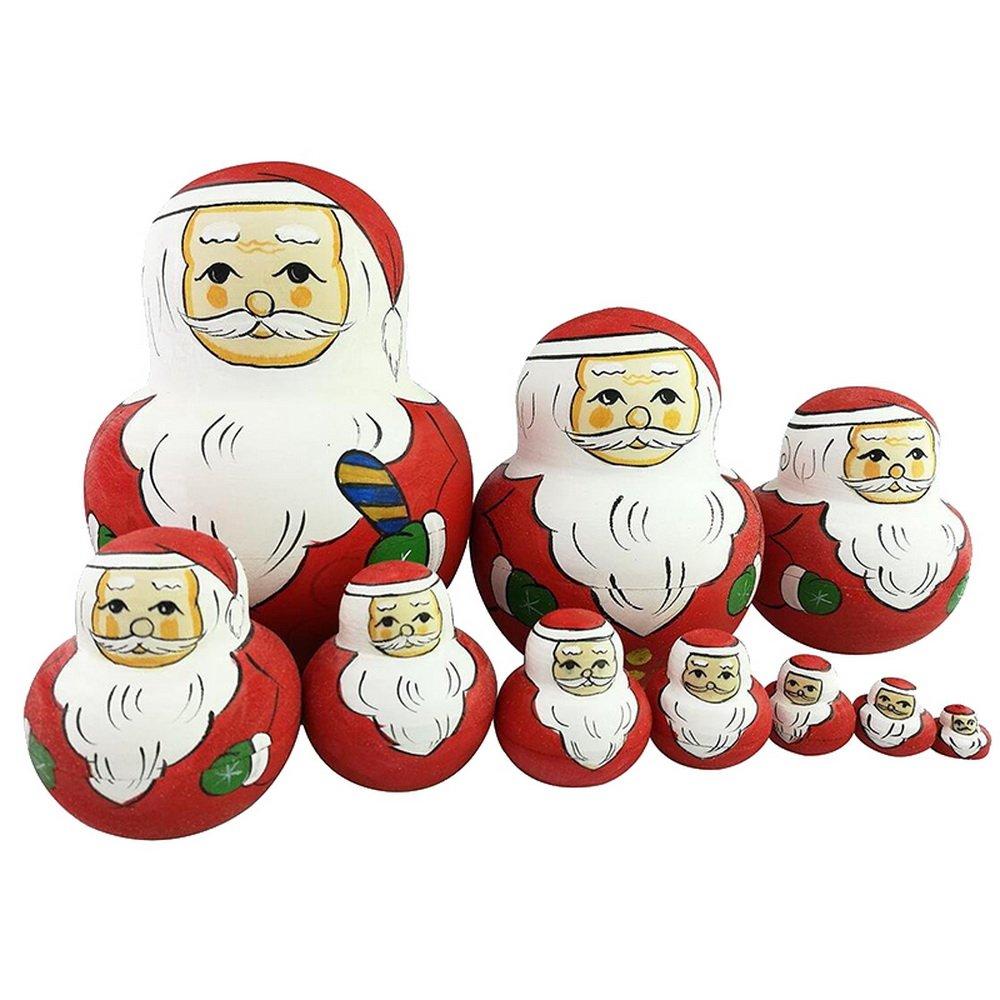 Sfit Père Noël Matriochka Poupée Russe 10 Pièces Lam003598