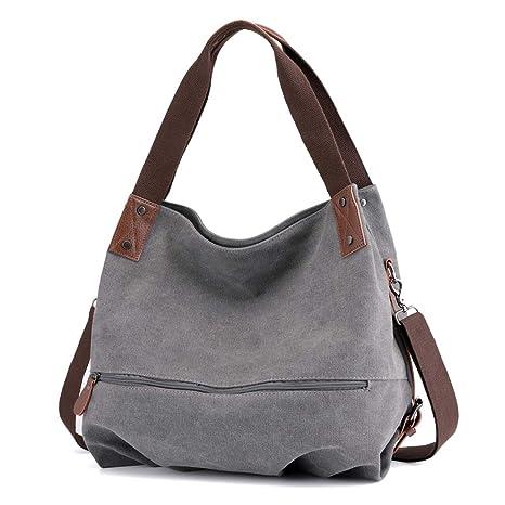 9dc84e7672 Signice Women Hobo Bag Canvas Shoulder Bag Convertible Ladies Crossbody  Messenger Bag Casual Cross Body Bags