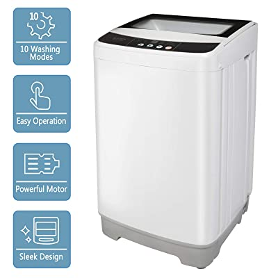 RVs and Dorm 13lbs Portable Washer w/ 10 Programs 8 Water Levels ...