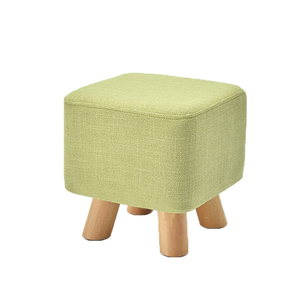B Cloth wood stool fashion sofa stool creative bench (color   F)